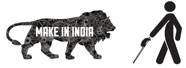 Make in India and blind person both are coming together with the help of Saarthi