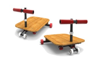 two skating boards in picture